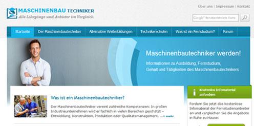 Neues Portal zum Maschinenbautechniker