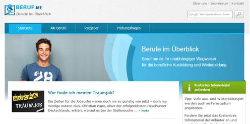 Beruf.me-Netzwerk: Neue Berufsprofile online