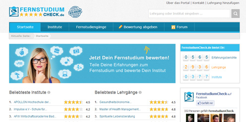 Relaunch von FernstudiumCheck.de