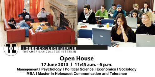 Touro College Berlin – Open House – neue Studienprogramme ab Herbst 2013