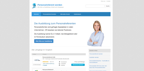 Screenshot von www.Personalreferent.biz