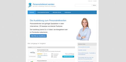 Screenshot von www.Personalreferent.biz