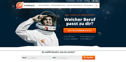 Ausbildung.de Screenshot