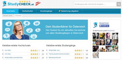 StudyCheck.at - Bewertungsportal für Studiengänge in Österreich