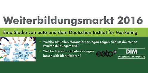 Top Thema: eato-Studie zum Weiterbildungsmarkt 2016: Nehmen auch Sie teil!