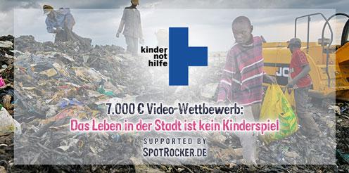 Kindernothilfe: Aktueller Video-Contest mit Unterstützung von SPOTROCKER